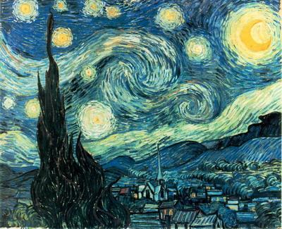 """ Starry Night ""  Vincent van Gogh   1853-1890"